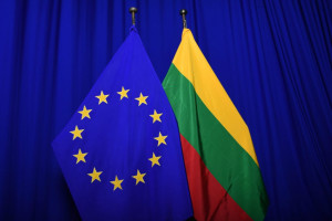 Flag of each of the 28 EU Member States, alongside the European flag
